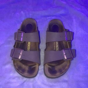 Arizona two strap brown Birkenstock